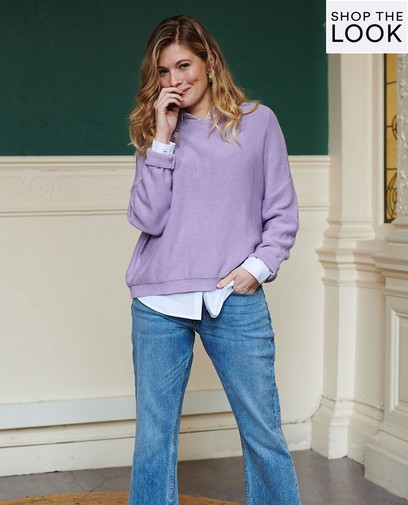 Casual chic in Lila